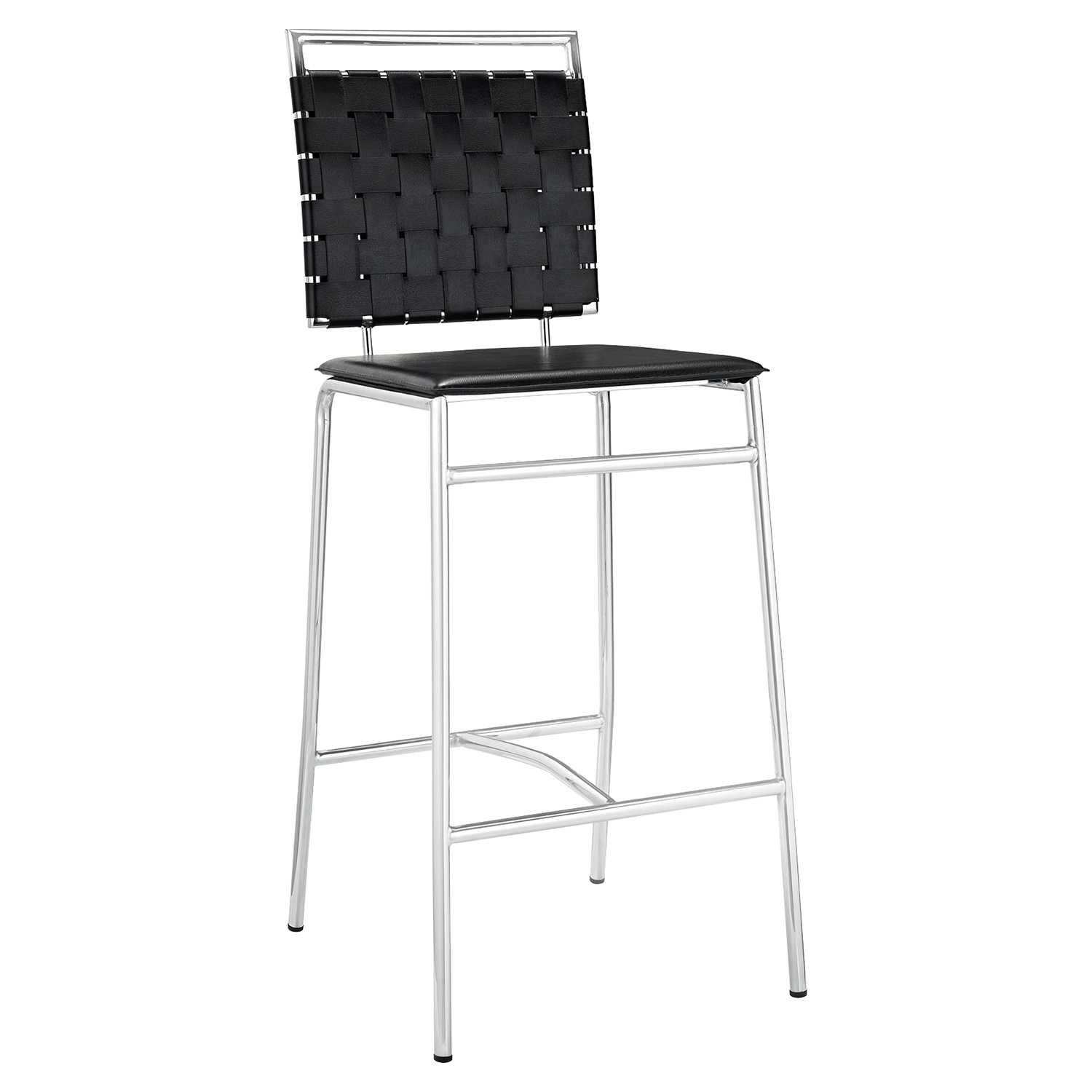 Fuse Leather Look Bar Stool - Black