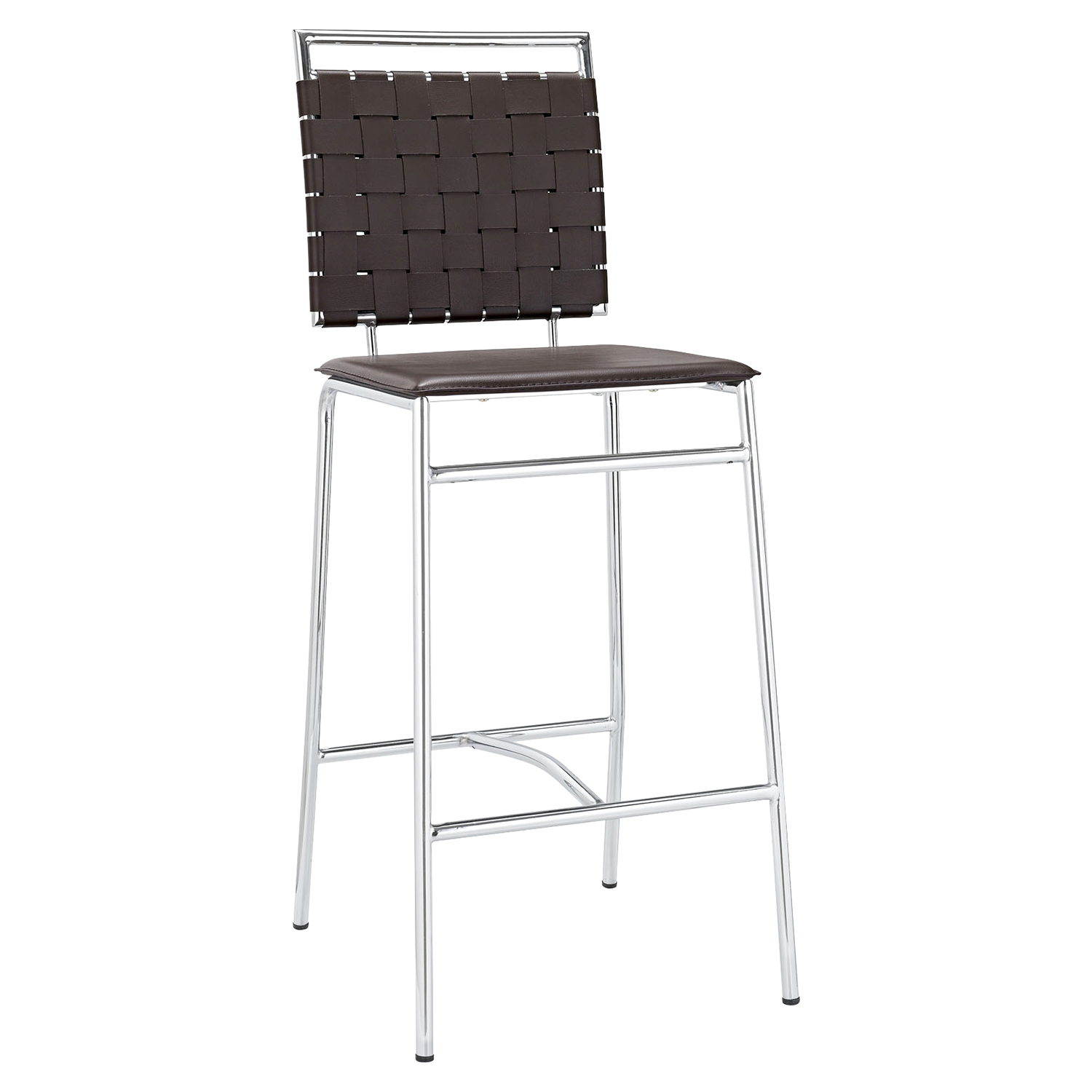 Fuse Leather Look Bar Stool - Brown