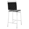 Fuse Leather Look Counter Stool - Black - EEI-1108-BLK