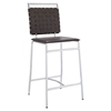 Fuse Leather Look Counter Stool - Brown