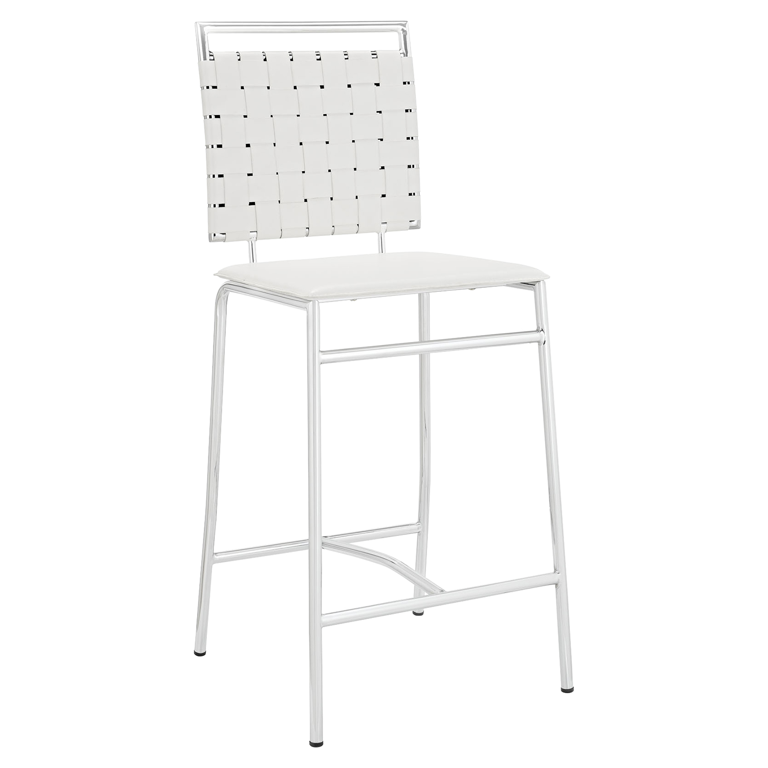 Fuse Leather Look Counter Stool - White