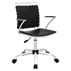 Fuse Leather Look Office Chair - Adjustable Height, Swivel, Armrest