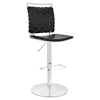 Fuse Adjustable Armless Bar Stool - Black, Swivel