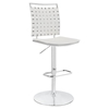 Fuse Adjustable Armless Bar Stool - White, Swivel