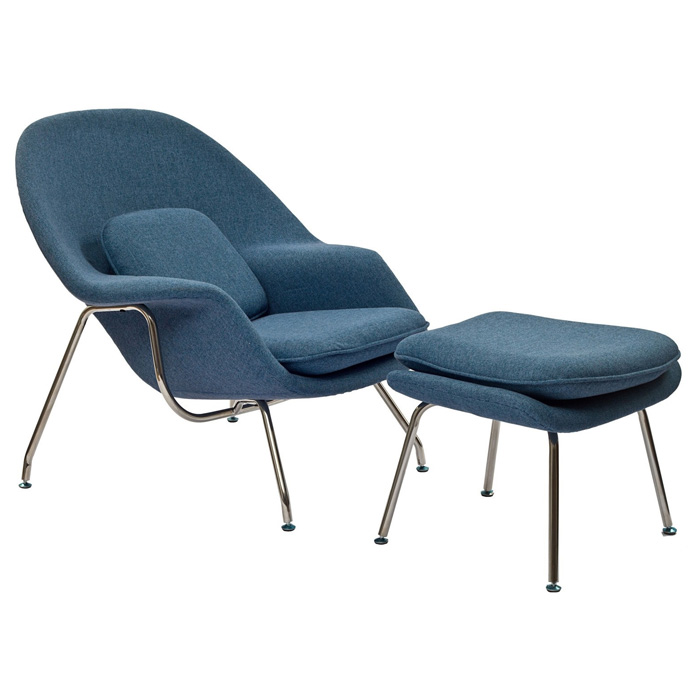 Womb Chair & Ottoman - Saarinen Inspired, Tweed