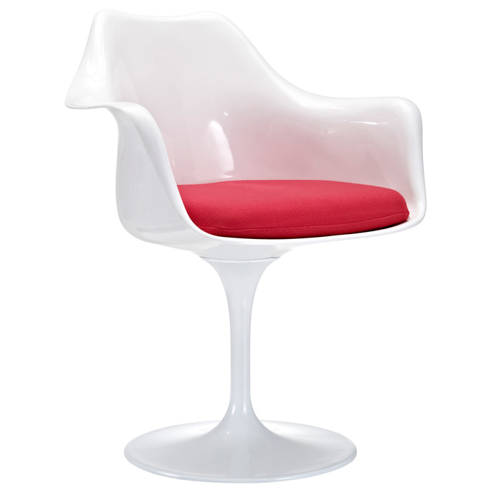 Lippa Saarinen Inspired White Armchair
