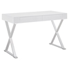 Sector Rectangular Office Desk - White