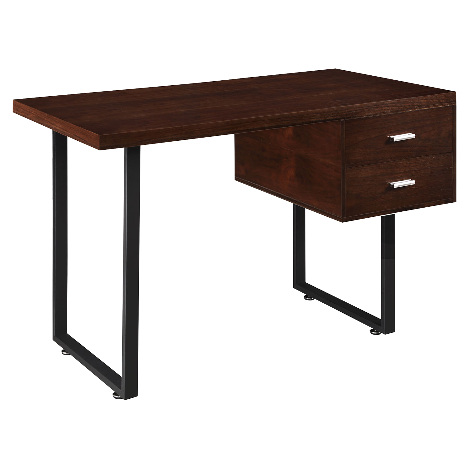 Turn 2 Drawers Office Desk - Walnut