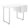 Turn 2 Drawers Office Desk - White