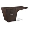 Warp 3 Drawers Office Desk - Walnut