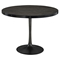 Drive Wood Top Dining Table - Round, Pedestal, Black - EEI-1197-BLK-SET