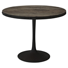 Drive Wood Top Dining Table - Round, Pedestal, Brown