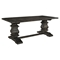 Column Wood Rectangular Dining Table - Black - EEI-1199-BLK