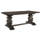 Column Wood Rectangular Dining Table - Brown - EEI-1199-BRN