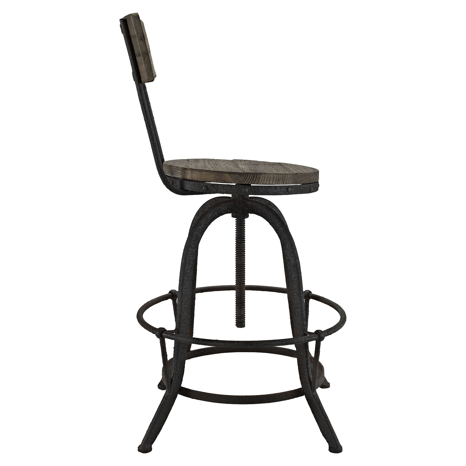 Procure Bar Stool - Wood Top, Brown (Set of 2) - EEI-1605-BRN-SET