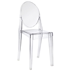 Casper Acrylic Stackable Ghost Side Chair