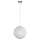 "Spool 16"" Chandelier - White"