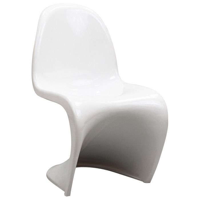 Slither Plastic Kids Chair - White - EEI-123K-WHI