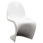 Slither Plastic Kids Chair - White