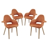 Aegis Dining Armchair - Wood Legs, Orange (Set of 4)
