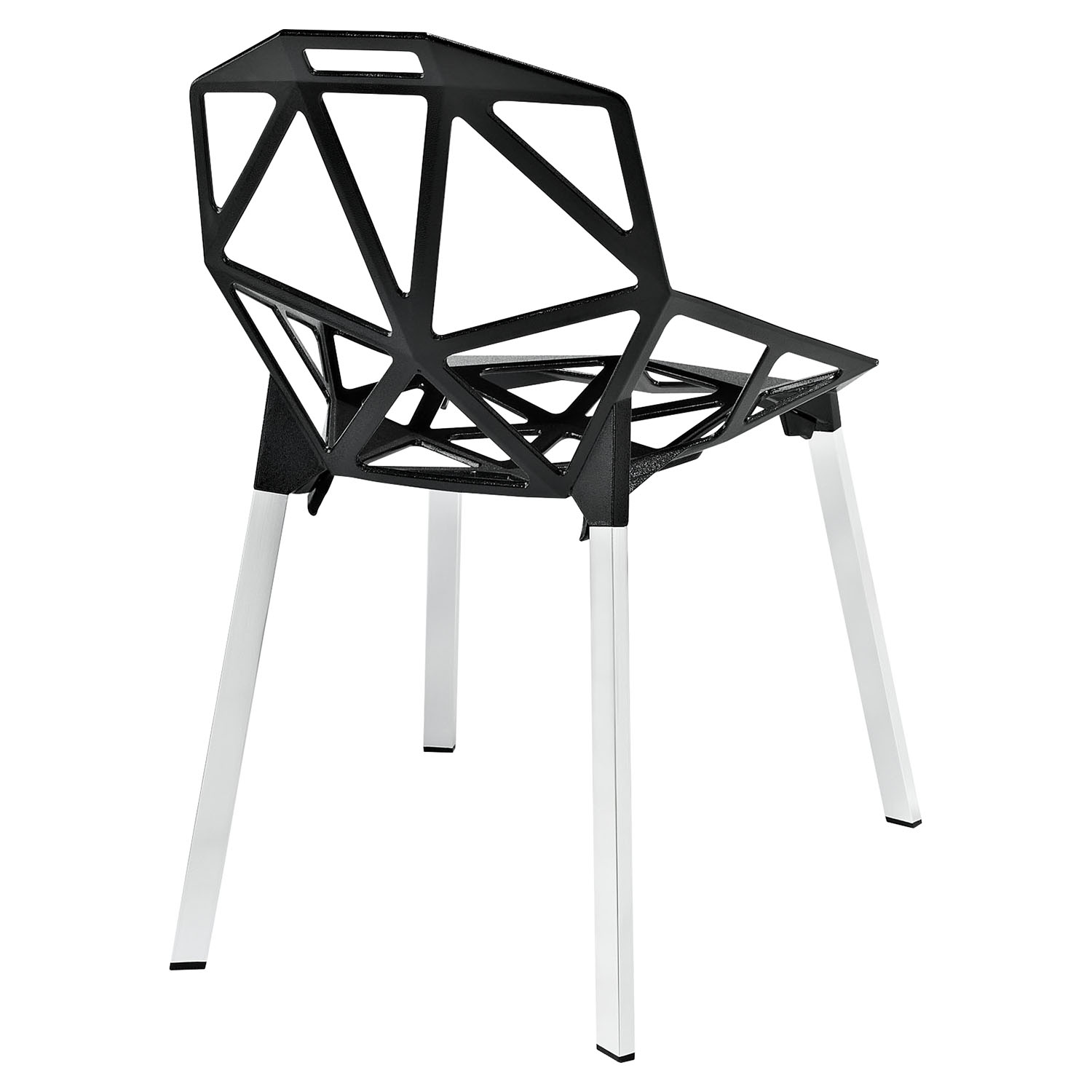 Connections Aluminum Dining Chair - Black (Set of 2) - EEI-1358-BLK