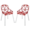 Connections Aluminum Dining Chair - Red (Set of 2)