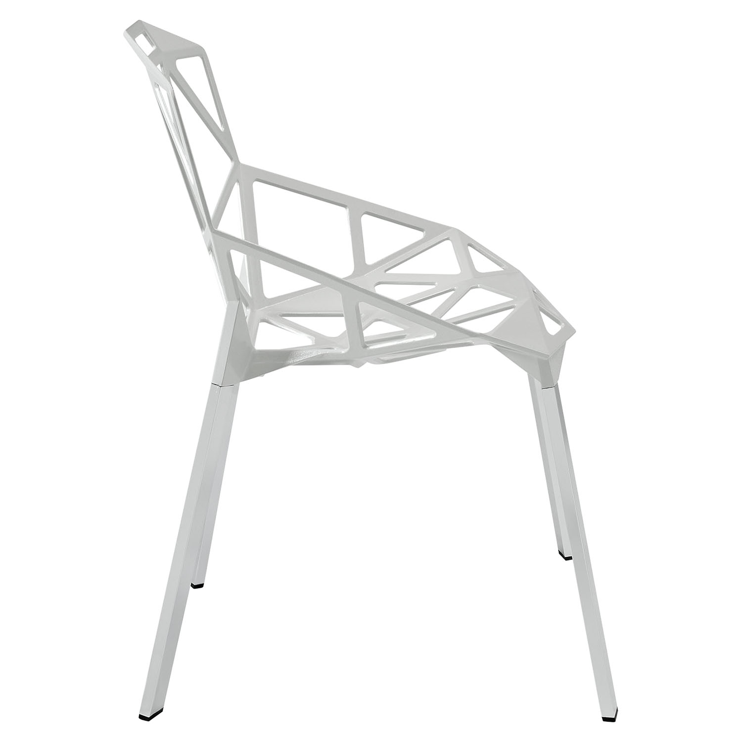 Connections Backrest Dining Chair - White (Set of 4) - EEI-1359-WHI
