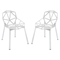 Connections Aluminum Dining Chair - White (Set of 2) - EEI-1358-WHI