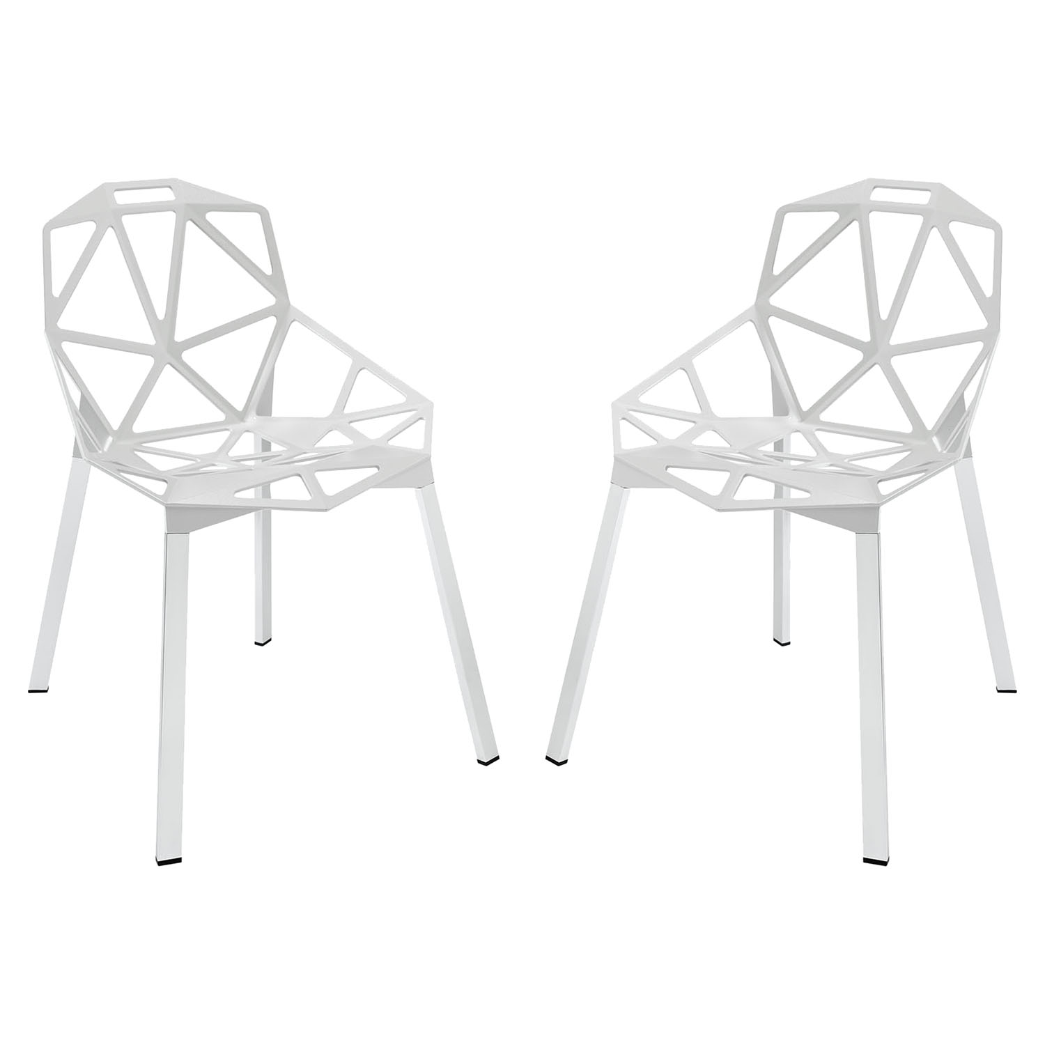Connections Aluminum Dining Chair - White (Set of 2)