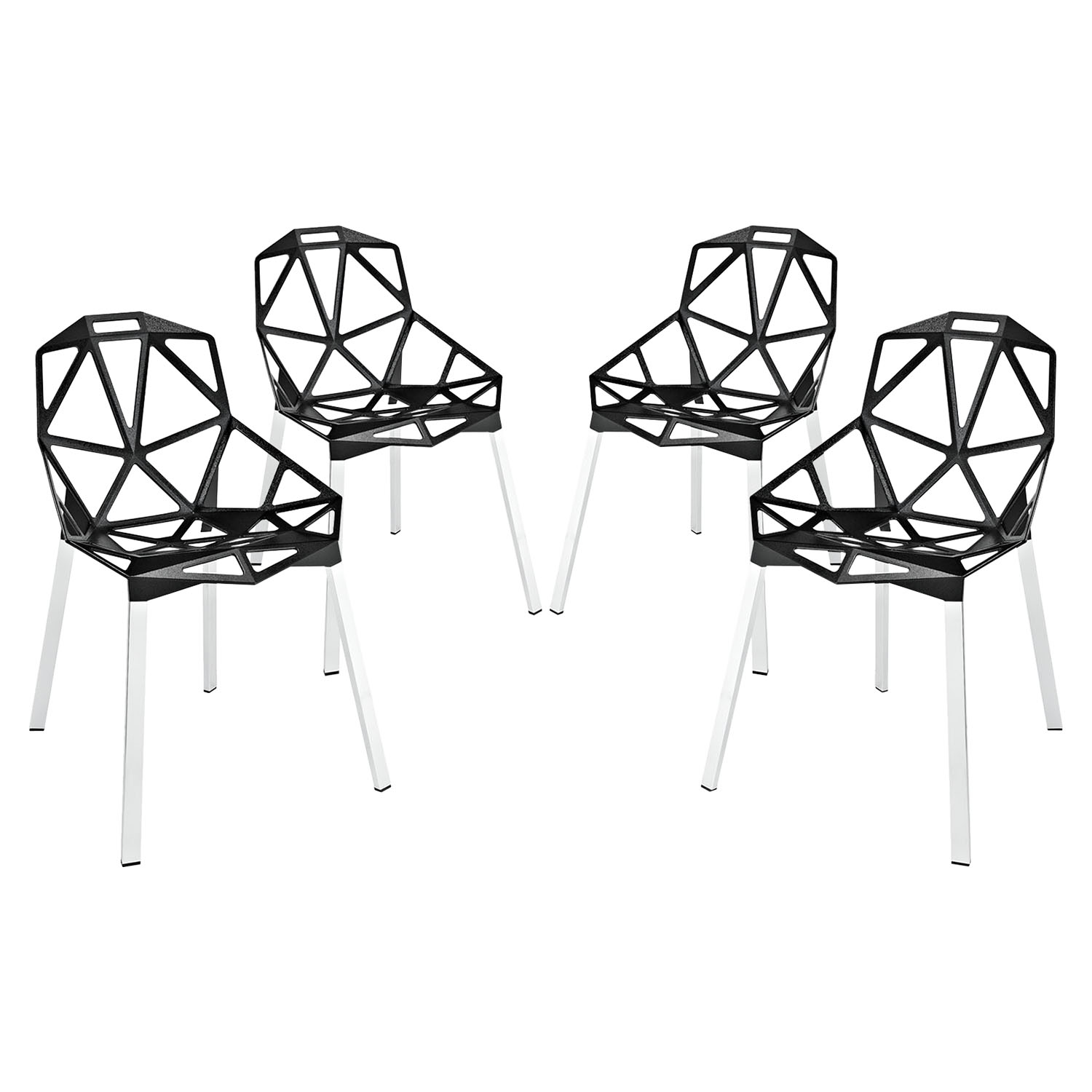 Connections Backrest Dining Chair - Black (Set of 4)