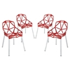 Connections Backrest Dining Chair - Red (Set of 4)