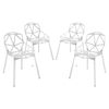 Connections Backrest Dining Chair - White (Set of 4)