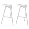 Launch Stacking Bar Stool - Backless, White (Set of 2)
