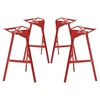 Launch Aluminum Stacking Bar Stool - Red (Set of 4)