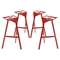 Launch Aluminum Stacking Bar Stool - Red (Set of 4) - EEI-1363-RED