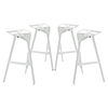 Launch Aluminum Stacking Bar Stool - White (Set of 4)