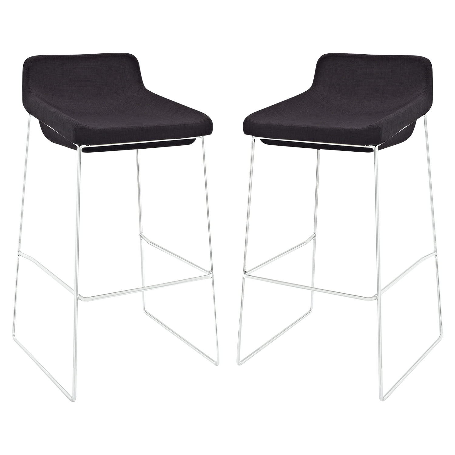 Garner Bar Stool - Backless, Black (Set of 2)