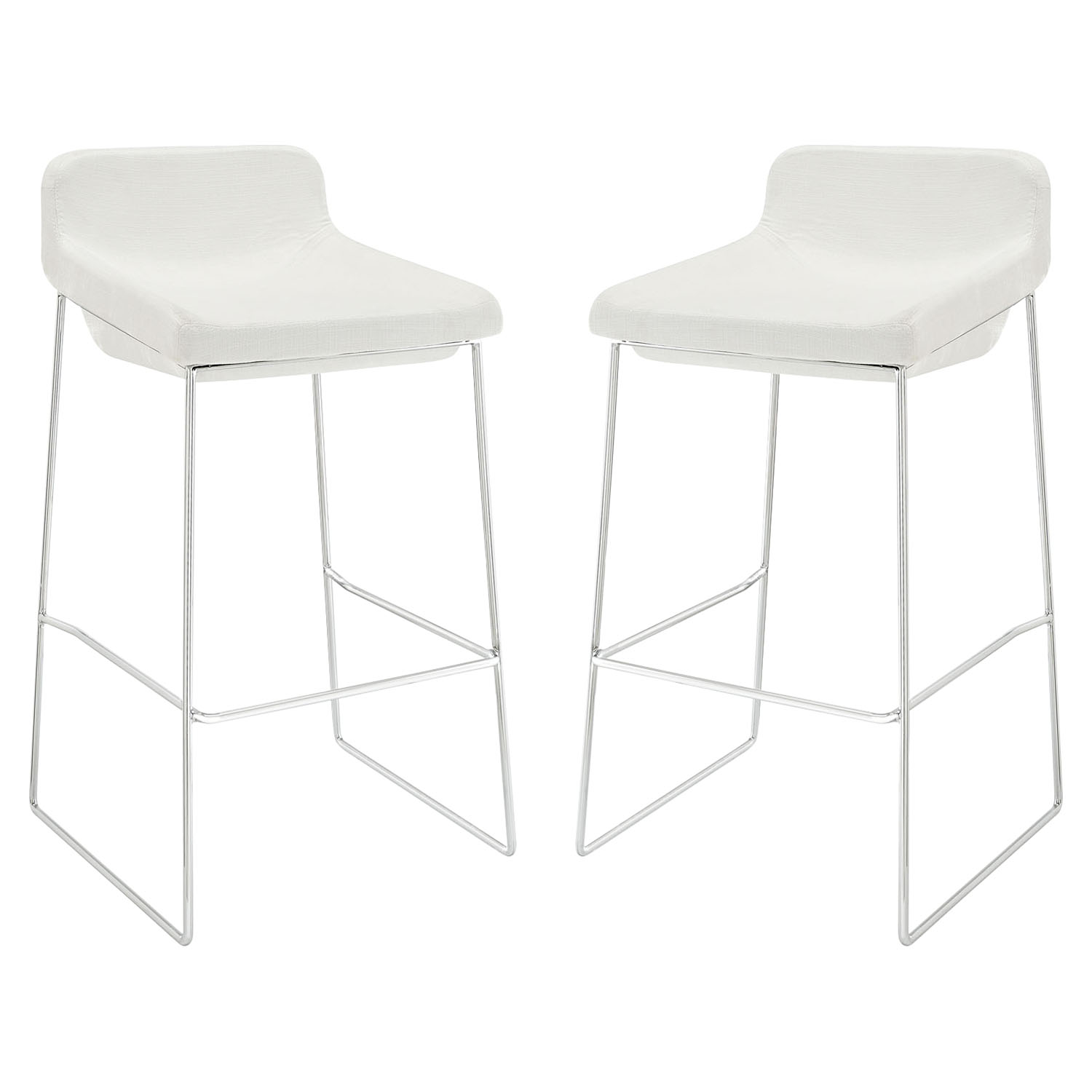 Garner Bar Stool - Backless, White (Set of 2)