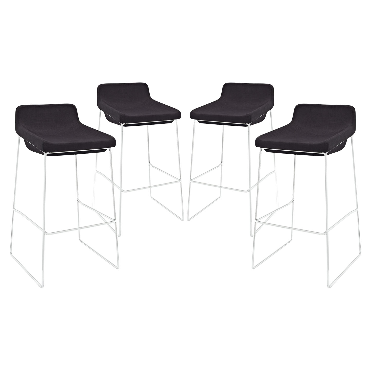 Garner Bar Stool - Metal Legs, Black (Set of 4)