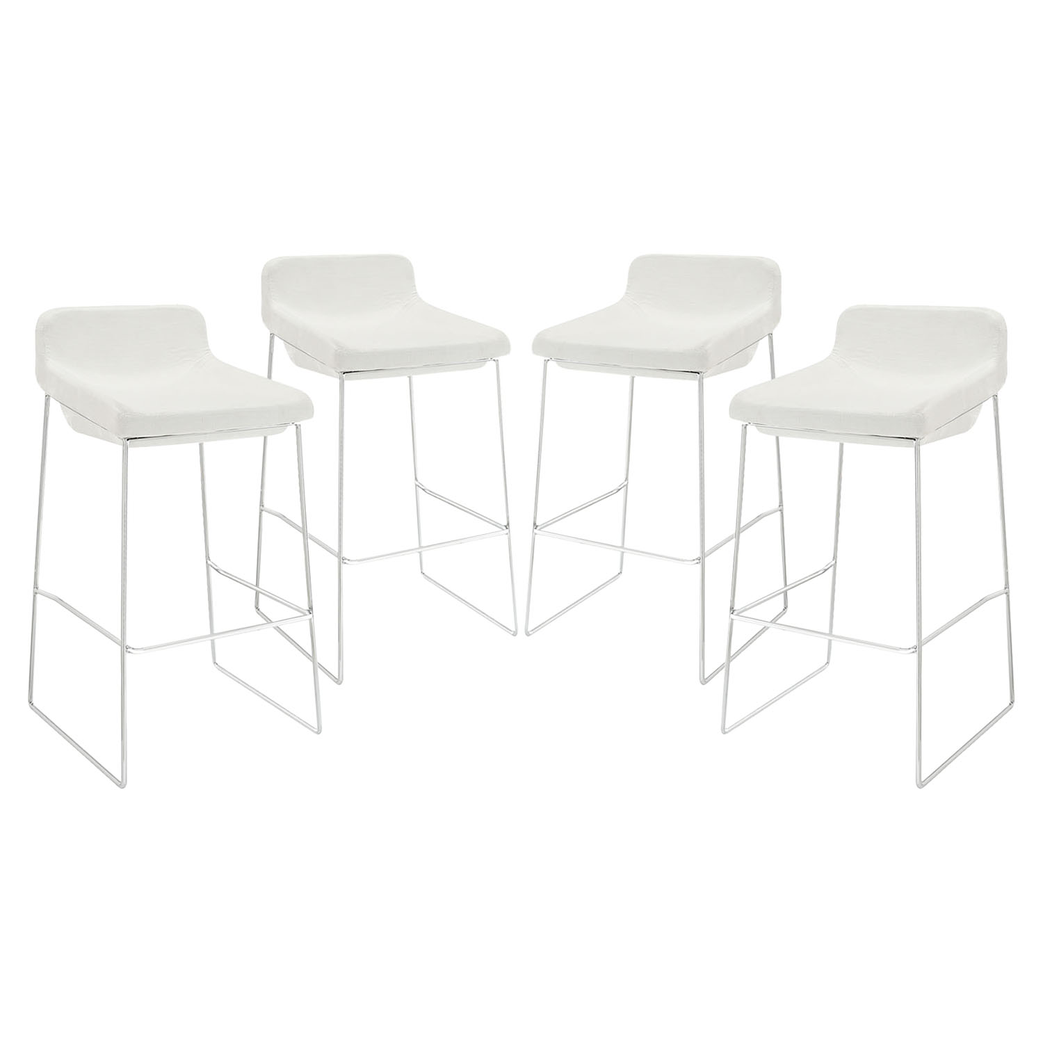 Garner Upholstery Bar Stool - White (Set of 4)