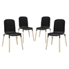 Stack Dining Chair - Black (Set of 4)