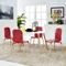 Stack Dining Chair - Red (Set of 4) - EEI-1373-RED