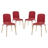 Stack Dining Chair - Red (Set of 4)