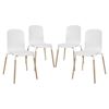 Stack Dining Chair - White (Set of 4)