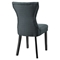 Silhouette Dining Side Chair - Button Tufted, Gray - EEI-1380-GRY