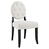 Button Tufted Dining Side Chair - Beige