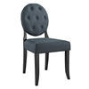 Button Dining Side Chair - Tufted, Gray