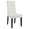 Confer Fabric Side Chair - Button Tufted, Beige - EEI-1383-BEI