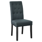 Confer Fabric Side Chair - Button Tufted, Gray