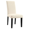 Parcel Nailhead Fabric Side Chair - Beige